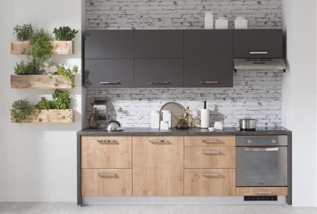 Zaria - Kuchyň. blok 240 (grafit/dub arlington/santuro antracid)