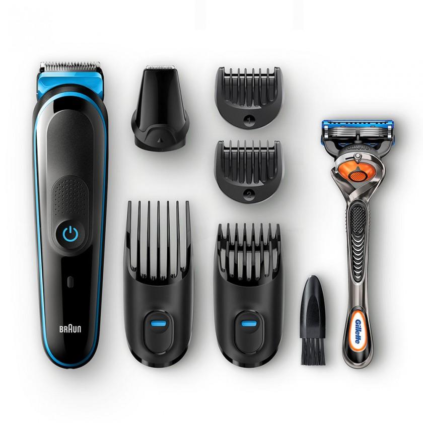 Zastřihovač Multifunkční zastřihovač vousů a vlasů 7v1 Braun MGK 5045