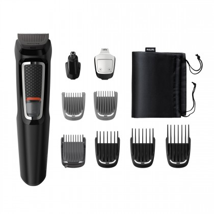 Zastřihovač vousů a vlasů Multigroom Series 3000 MG3740/15, 9v1