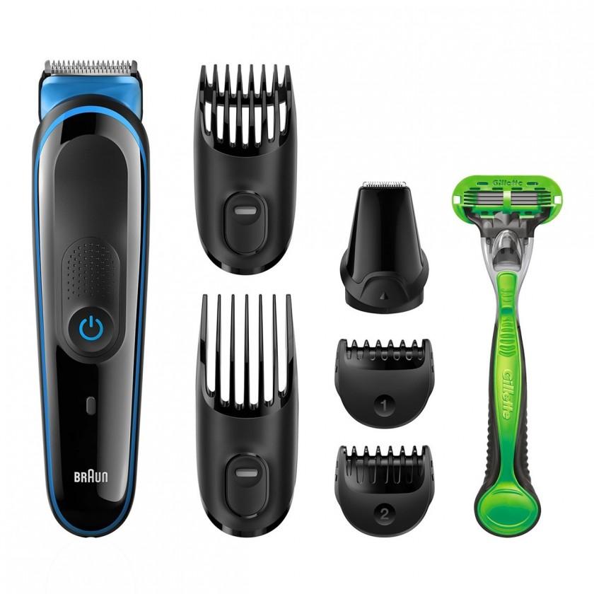 Zastřihovač Zastřihovač vlasů a vousů Braun MGK3040, 7v1