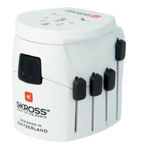 Zásuvka, rozdvojka Cestovní adaptér Skross World PA40