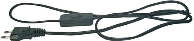 Zásuvka, rozdvojka EMOS Flexošňůra s vypínačem, 2x0,75mm, 2m, černá