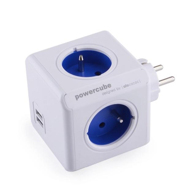 Zásuvka, rozdvojka Napájecí adaptér PowerCube Original 4 zásuvky, 2x USB