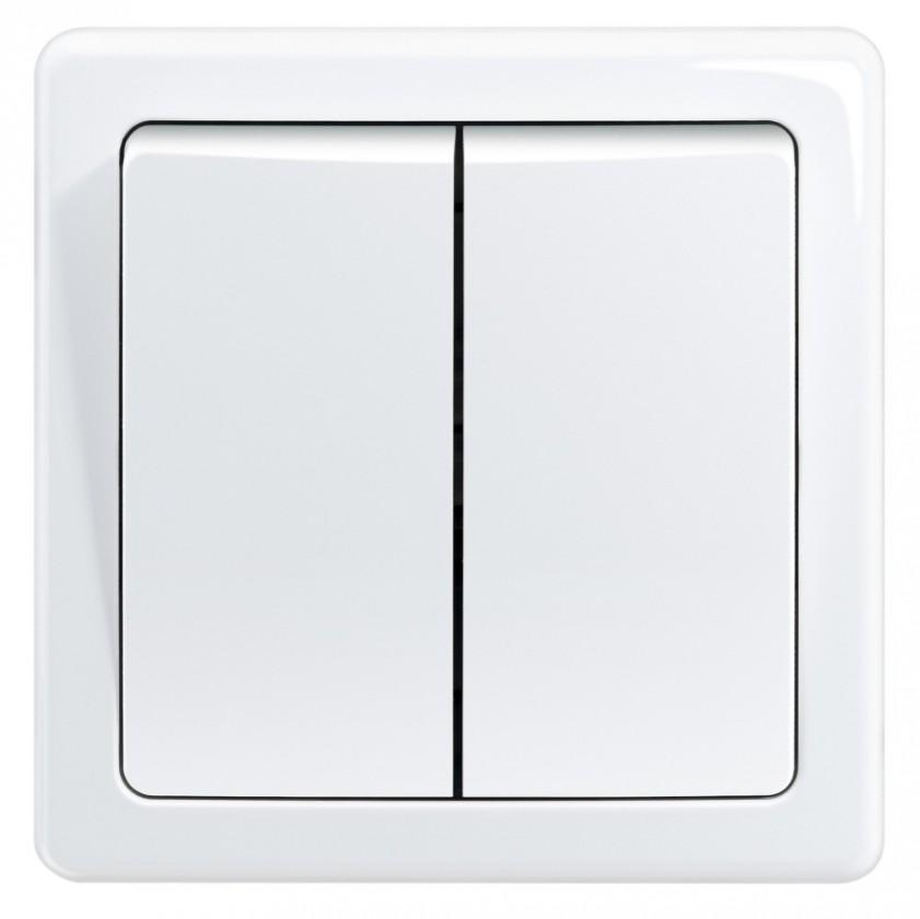 Zásuvka, rozdvojka Spínač Emos 3557G-05340 B1W, sériový, bílý