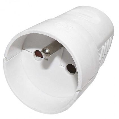 Zásuvka, rozdvojka Zásuvka pro prodlužovací kabel Emos P0042, bílá