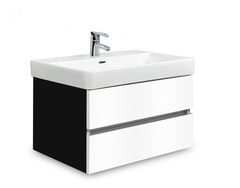 Závěsná Brisbane - skříň s umyvadlem Laufen Pro S 65cm (černá/bílá)