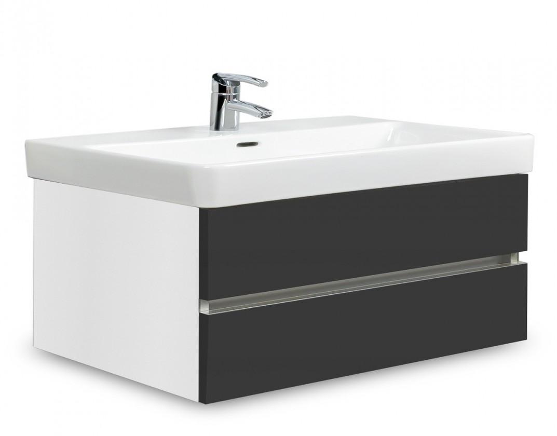 Závěsná Brisbane - skříň s umyvadlem Laufen Pro S 85cm (bílá/antracit)