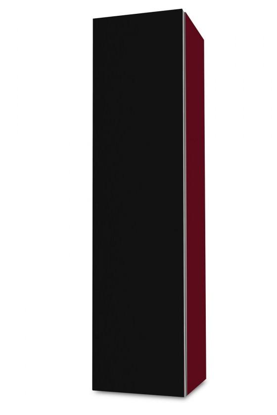 Závěsná Brisbane - závěsná skříň nízká,panty vlevo (bordó/černá)