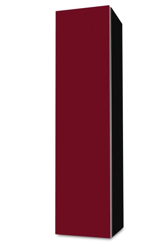 Závěsná Brisbane - závěsná skříň nízká,panty vlevo (černá/bordó)