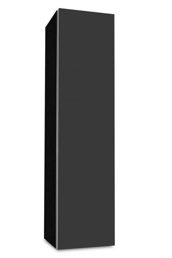 Závěsná Brisbane - závěsná skříň nízká,panty vpravo (černá/antracit)
