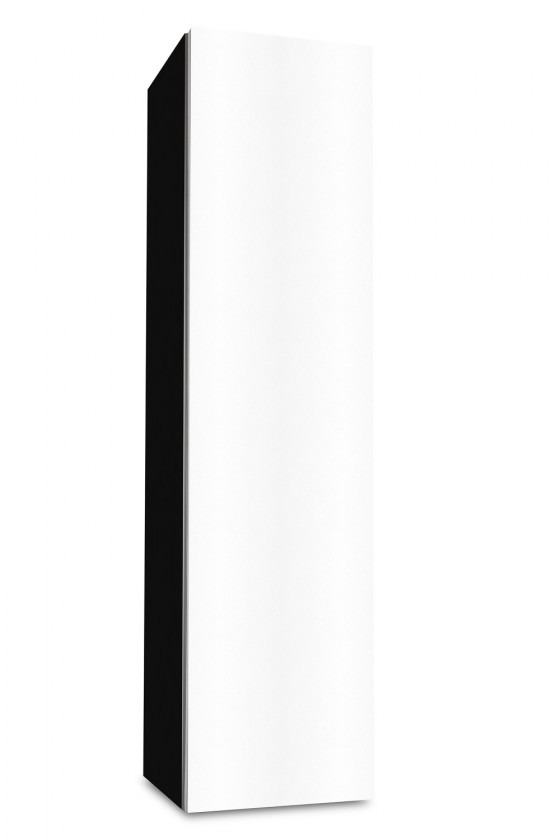 Závěsná Brisbane - závěsná skříň nízká,panty vpravo (černá/bílá)