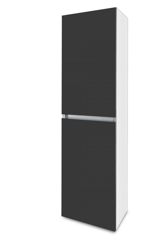 Závěsná Brisbane - závěsná skříň vysoká,panty vlevo (bílá/antracit)