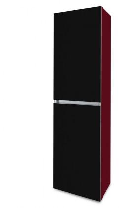 Závěsná Brisbane - závěsná skříň vysoká,panty vlevo (bordó/černá)