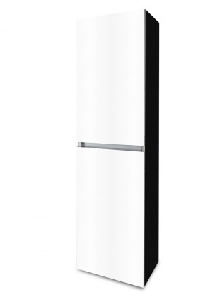 Závěsná Brisbane - závěsná skříň vysoká,panty vlevo (černá/bílá)