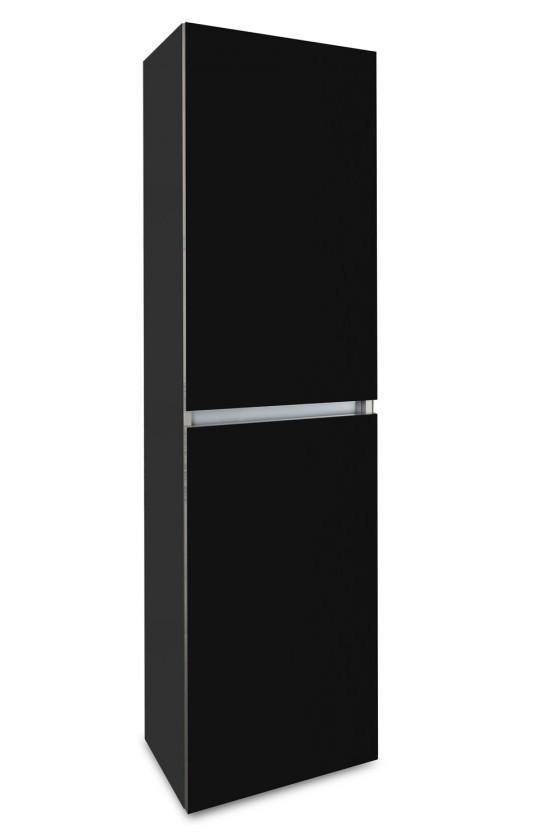 Závěsná Brisbane - závěsná skříň vysoká,panty vpravo (antracit/černá)
