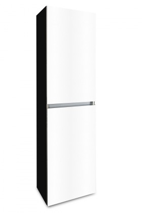 Závěsná Brisbane - závěsná skříň vysoká,panty vpravo (černá/bílá)