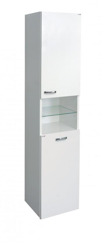 Závěsná Melbourne - Závěsná skříňka, výklopný koš na prádlo (bílá/bílá)