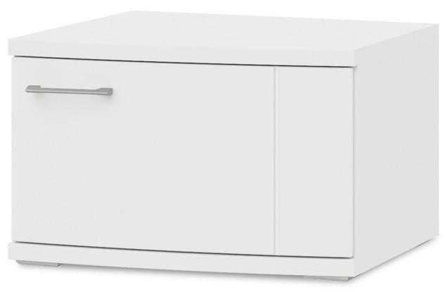 Závěsná skříňka Cino - Typ 34 (bílá arctic/bílá arctic vysoký lesk)