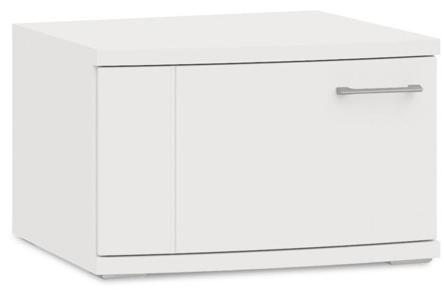 Závěsná skříňka Cino - Typ 35 (bílá arctic/bílá arctic vysoký lesk)