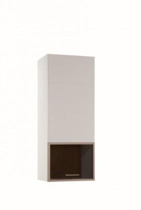 Závěsná skříňka Corano - typ 70 (bílá/dub)