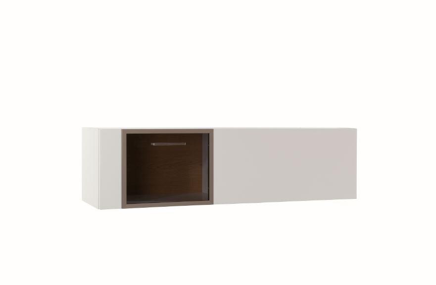 Závěsná skříňka Corano - typ 73 (bílá/dub)