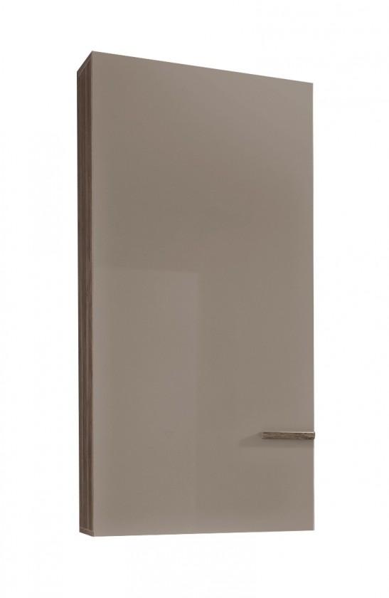 Závěsná skříňka Linea - Závěsný prvek (dub tmavý HN/šedá HG/ dub tmavý HN)