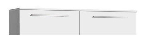Závěsná skříňka Scully SCLH02 (Bílá lesk/bílá mat/černá uni)