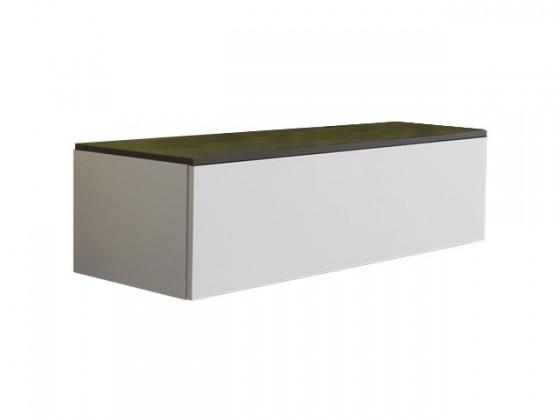 Závěsná skříňka Strada - Skříňka C166 (eben perletově šedá)