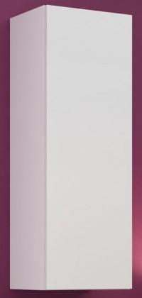 Závěsná skříňka Vigo - Vitrína závěsná, 1x dveře (bílá mat/bílá VL)