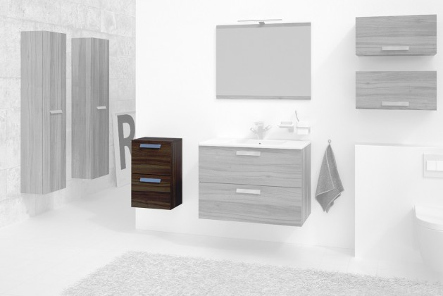 Závěsné skříňky do koupelny Koupelnová skříňka Montpellier (ořech)