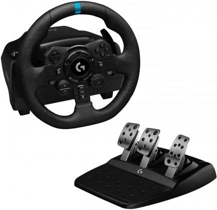 Závodní volant včetně pedálů Logitech G923 pro PS4