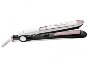 Žehlička na vlasy Rowenta Premium Care SF7460F0, ionizace + Rozčesávací kartáč Rowenta + Čistící kartáček Rowenta MM5007
