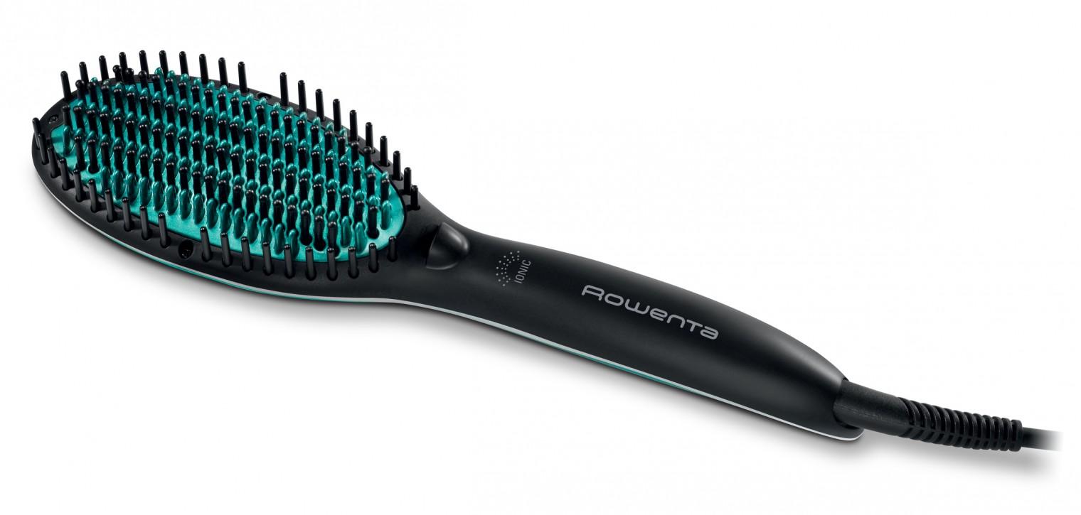 Žehlička na vlasy Žehlící kartáč Rowenta Power Straight CF5820F0, ionizace