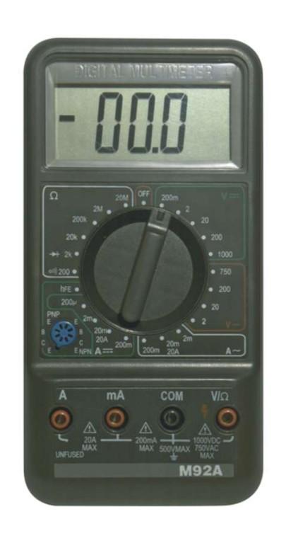 Zkoušečky na Multimetry a zkoušečky Digitální multimetr Emos M-92A, 2-750V
