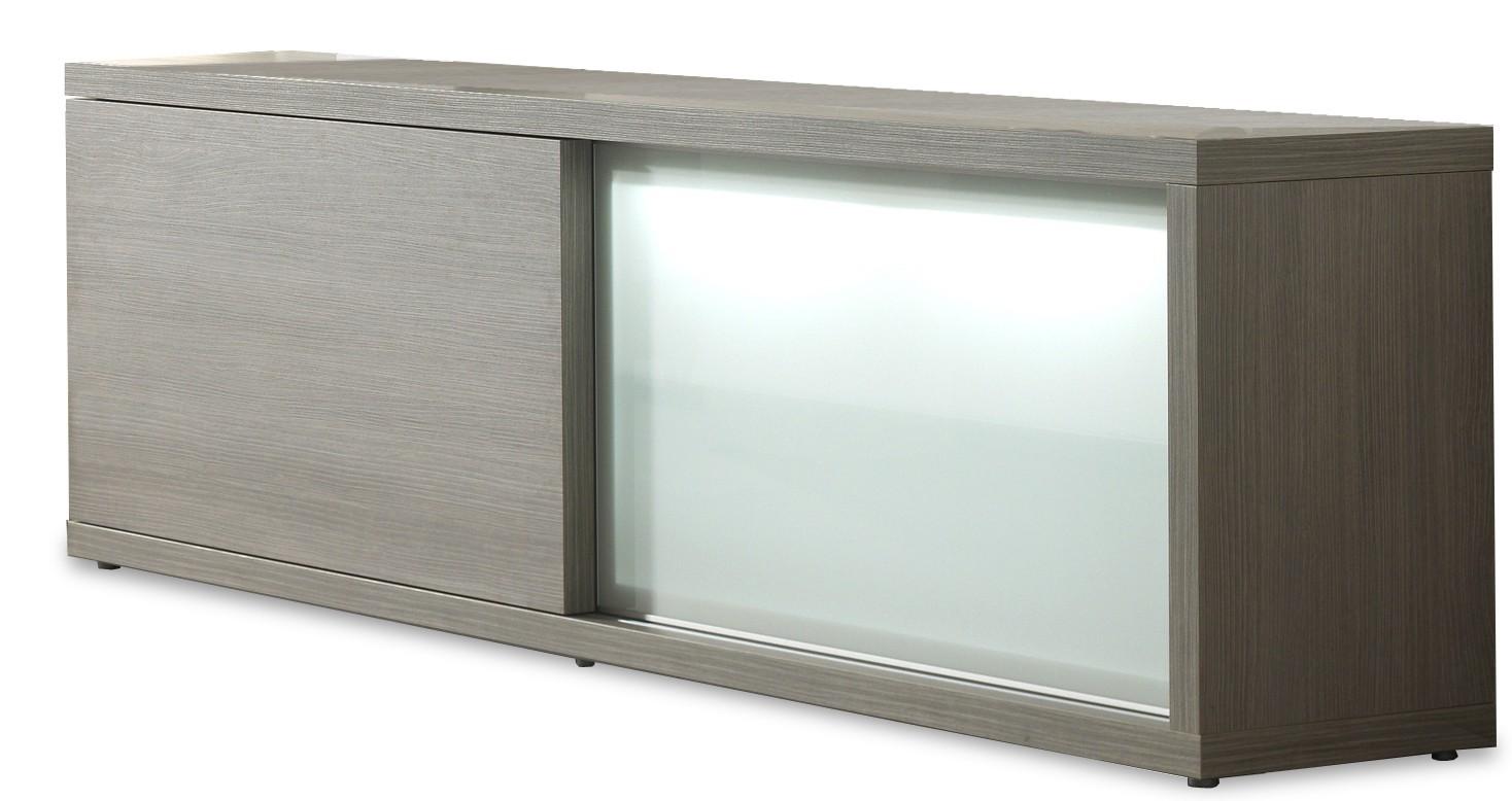 Zlevněné komody Cova - Příborník 220 C002 (dub šedý) - II. jakost