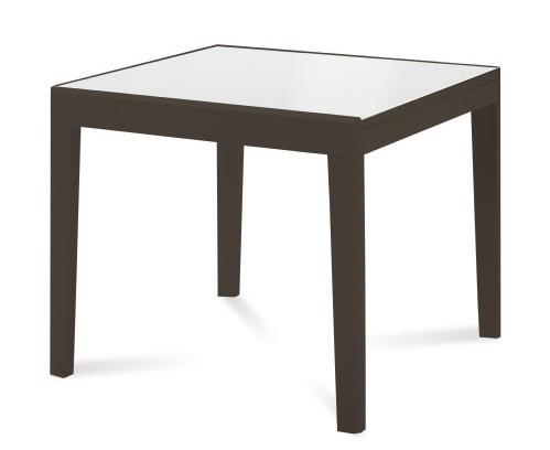 Zlevněné kuchyně, jídelny Asso 90 - Jídelní stůl (extra bílá, wenge) - II. jakost