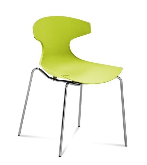 Zlevněné kuchyně, jídelny Echo - Jídelní židle (zelená pistáciová) - Z EXPOZICE