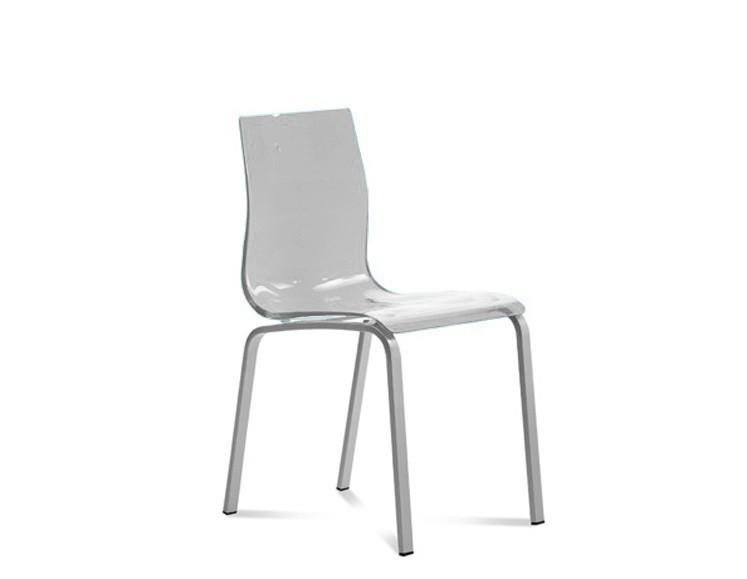 Zlevněné kuchyně, jídelny Gel-R - Jídelní židle (hliník, průhledná) - II. jakost