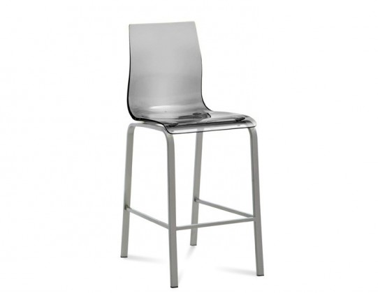 Zlevněné kuchyně, jídelny Gel-R-Sgb - Barová židle (hliník, průhledná) - II. jakost