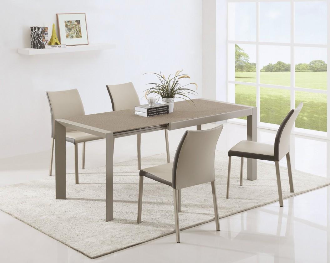Zlevněné kuchyně, jídelny Jídelní stůl Arabis 2 - 120-182x80 cm(hnědá,béžová) - II. jakost