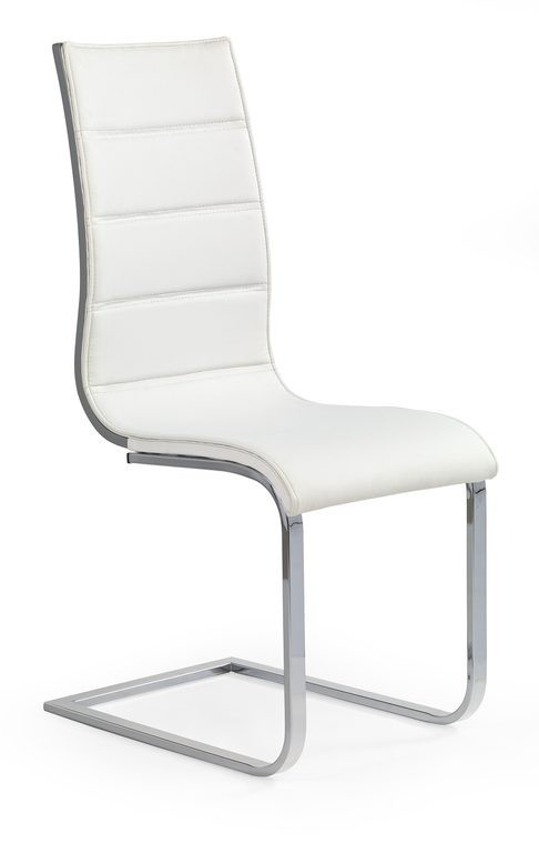 Zlevněné kuchyně, jídelny Jídelní židle K104 (chrom, eko kůže bílá, šedá) - II. jakost