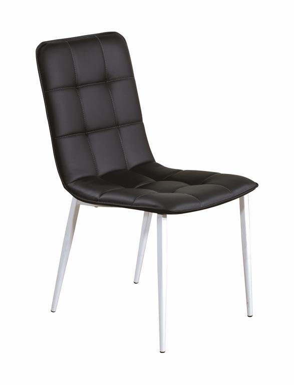 Zlevněné kuchyně, jídelny Jídelní židle K191  (eko kůže bílá/černá) - II. jakost