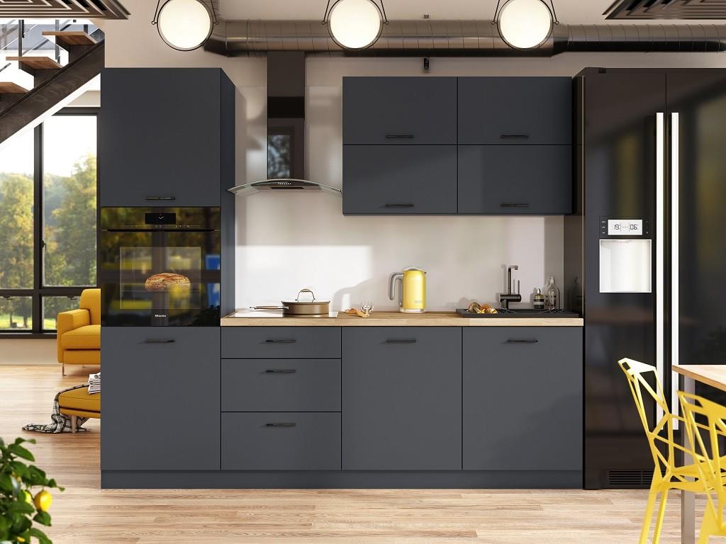 Zlevněné kuchyně, jídelny Kuchyně Lisa - 240 cm (šedá) - II. jakost