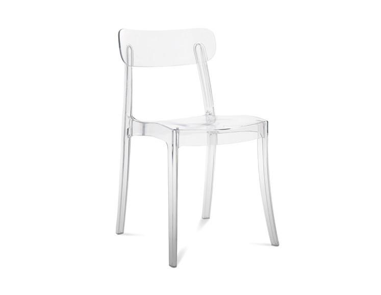 Zlevněné kuchyně, jídelny New Retro - Jídelní židle (průhledná) - II. jakost