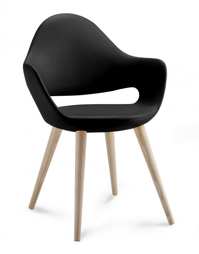 Zlevněné kuchyně, jídelny Soft-l - Jídelní židle (černá) - II. jakost