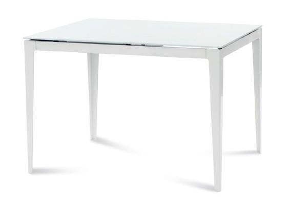 Zlevněné kuchyně, jídelny Wind 110 - Jídelní stůl (bílá, sklo) - II. jakost