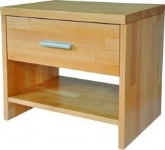 Zlevněné ložnice Noční stolek TNS 2 masiv buk, barva př - II. jakost