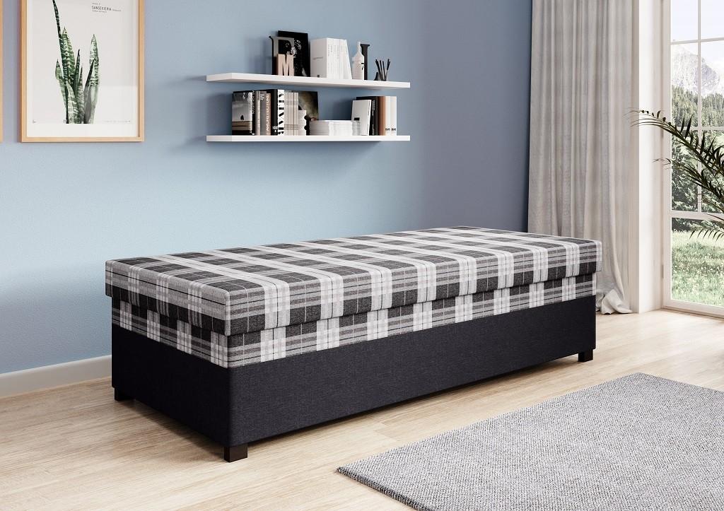 Zlevněné ložnice Válenda Argens 90x200, černá, ÚP - II. jakost