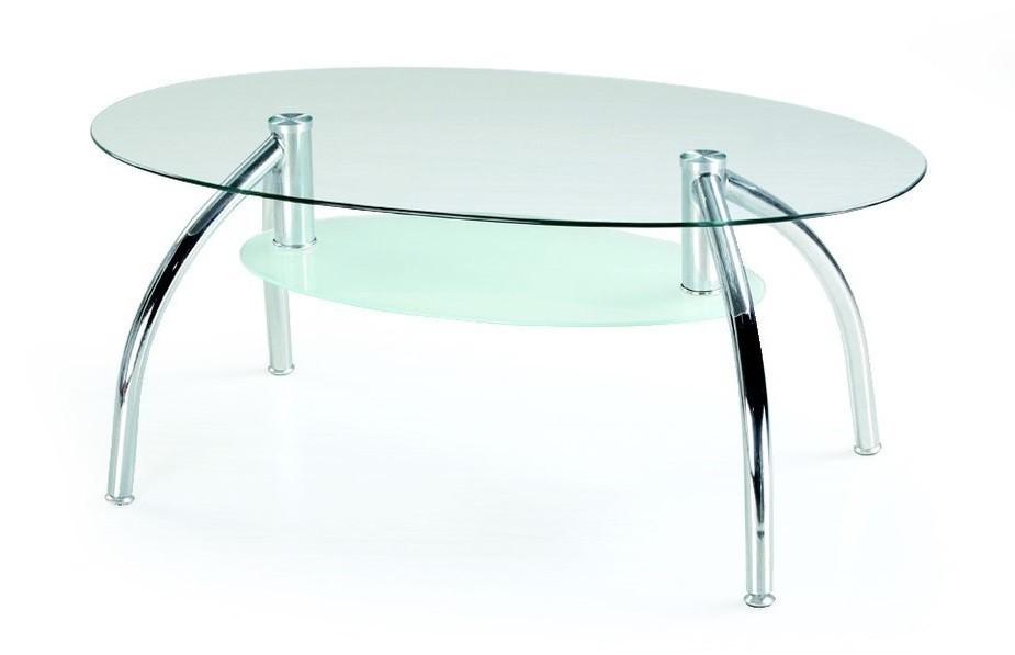 Zlevněné obývací pokoje Berta - Konferenční stolek (sklo)