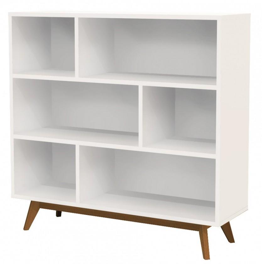Zlevněné obývací pokoje Komoda BESS 2170-001(bílá/dub) - II. jakost